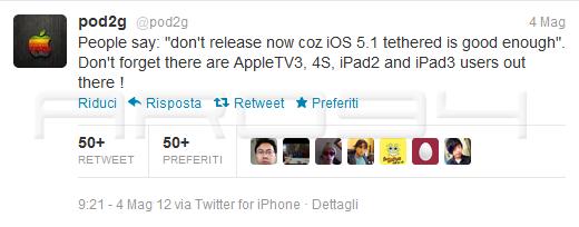 Pod2G potrebbe rilasciare il suo jailbreak untethered prima del rilascio di iOS6