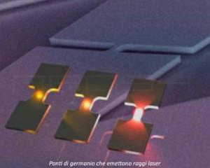 ponti di germanio che emettono raggi laser2