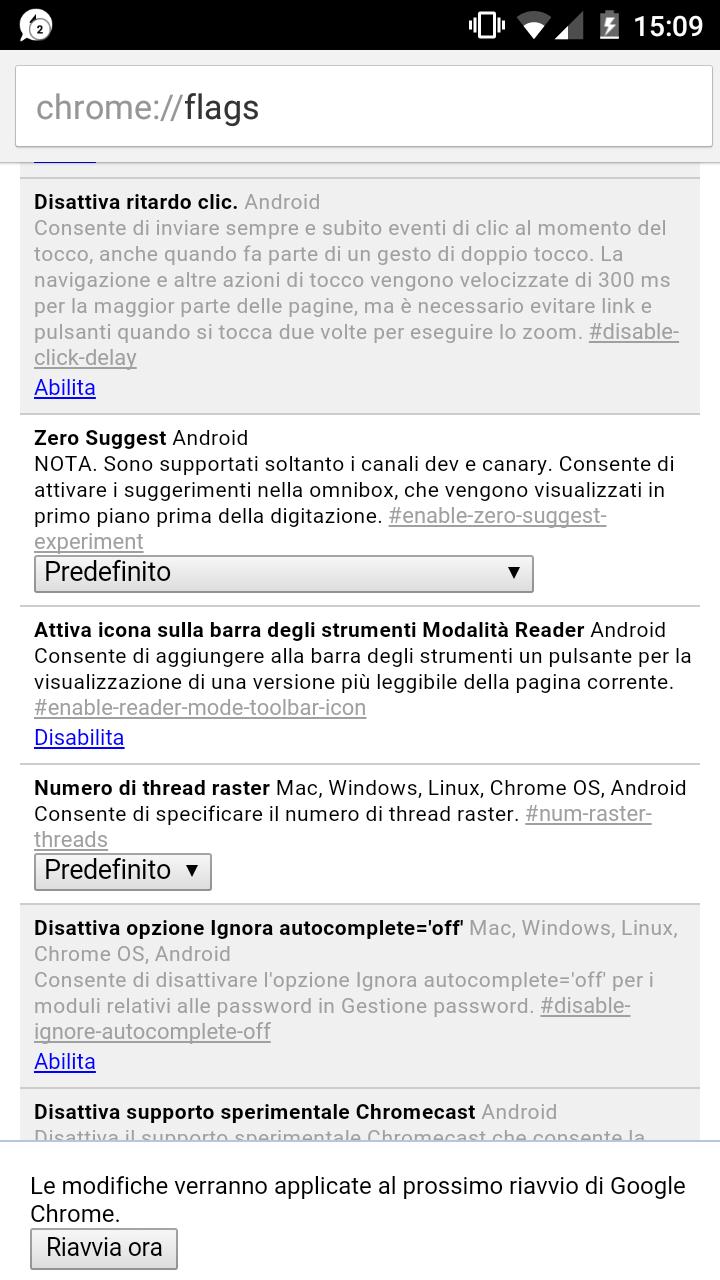 Google Chrome per Android: abilitiamo la Modalità Lettura