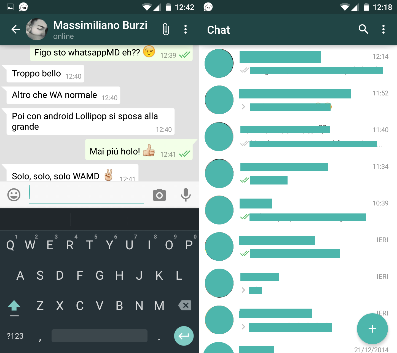 WhatsApp per Android: arriva il Material Design (per vie ufficiose)