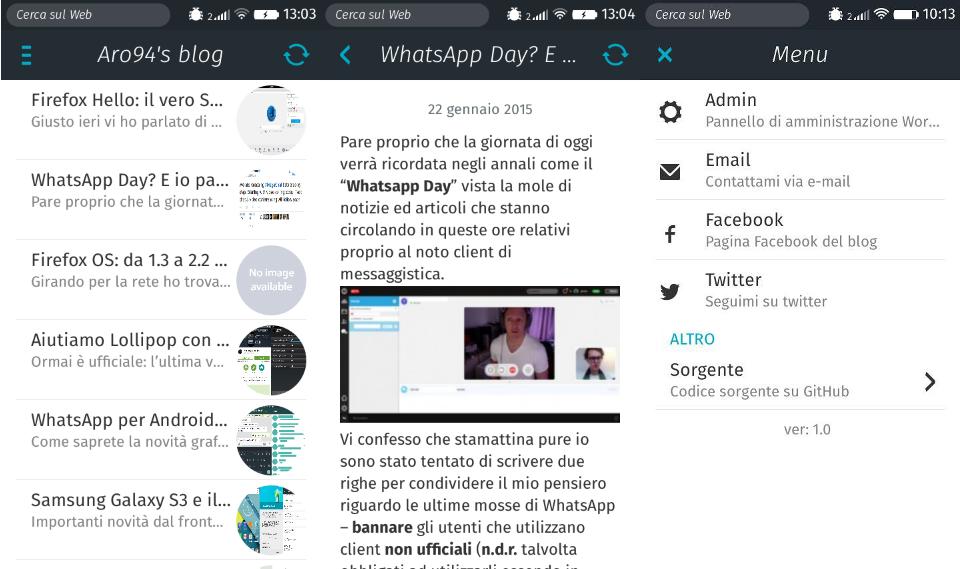Aro94's blog ora è anche Open WebApp!