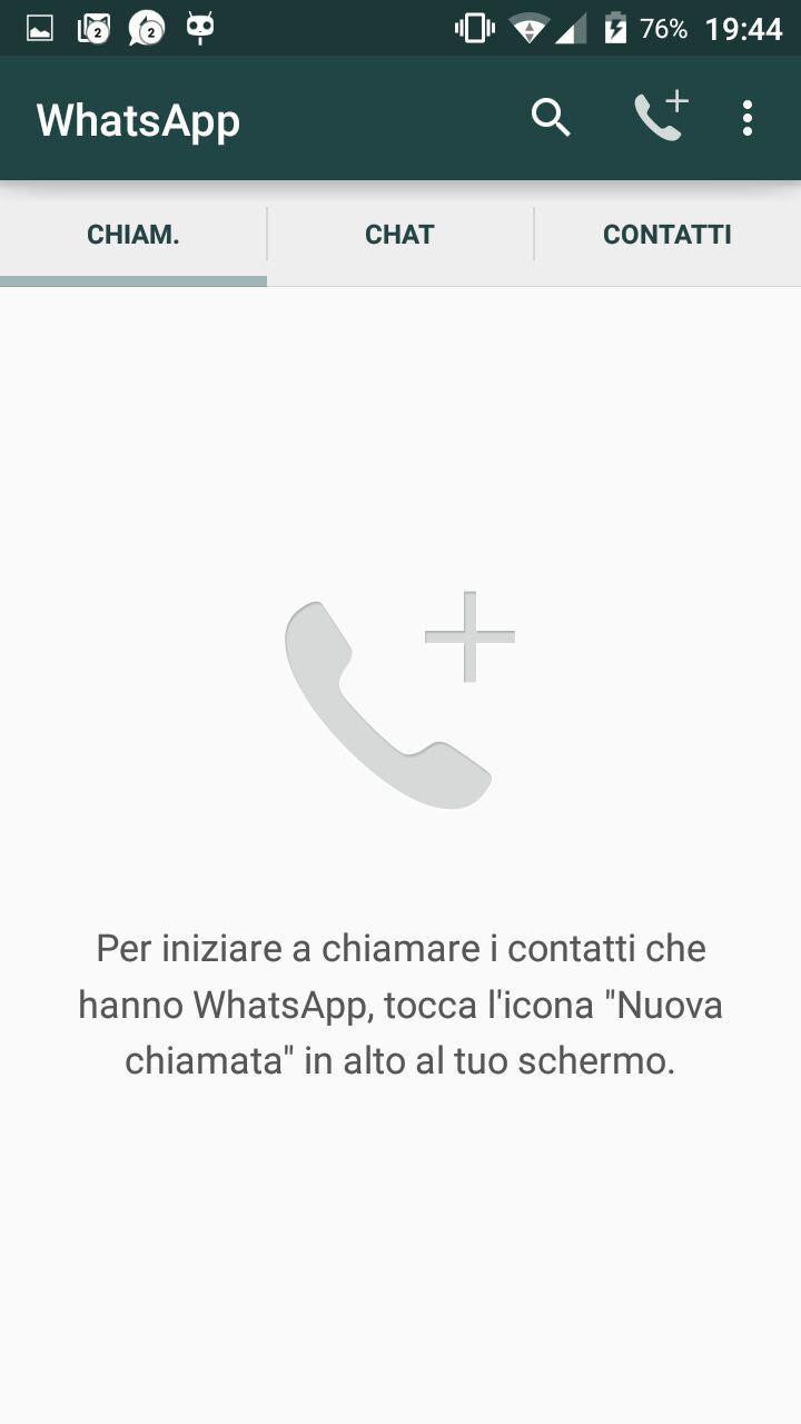 WhatsApp: le chiamate sono tra noi?