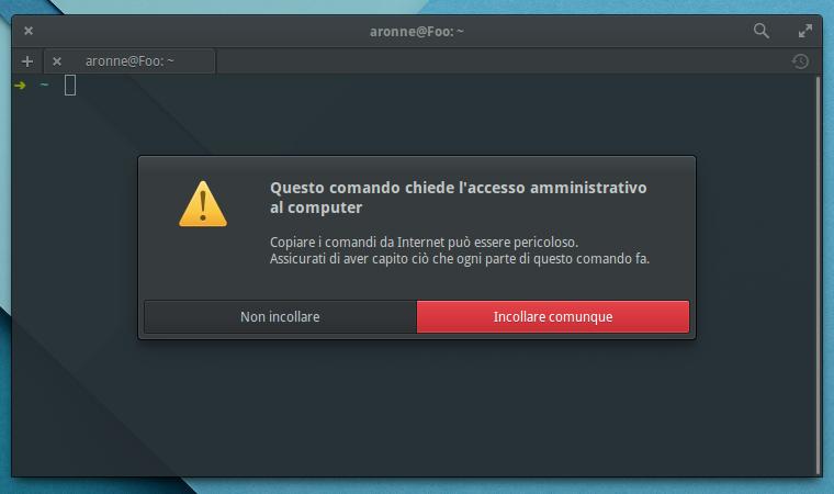 elementary OS e l'unsecure copy&paste: ecco come rimuoverlo