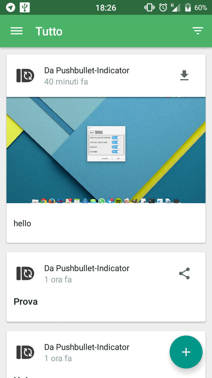 Pushbullet Indicator: Pushbullet desktop per Linux!
