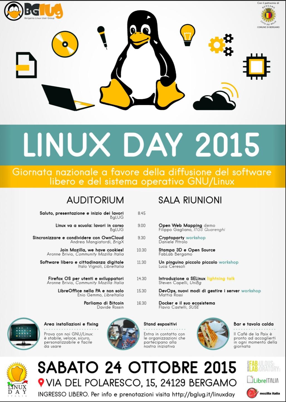 Linux Day 24 Ottobre 2015 - Bergamo